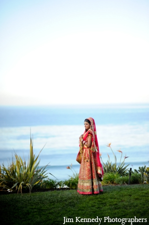 Indian-wedding-bride-red-lengha-beach-portrait