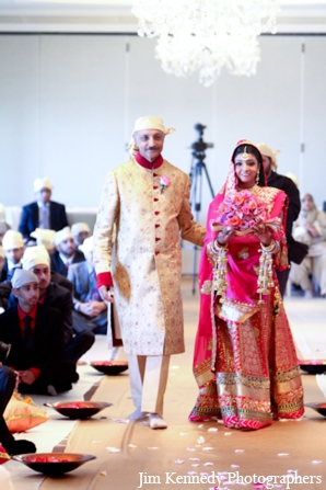 Indian-wedding-bride-walk-down-aisle-ceremony