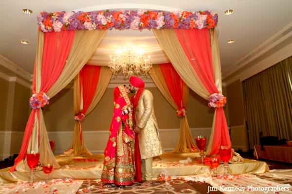 Indian Wedding Ceremony Fabric Mandap Fl Decor