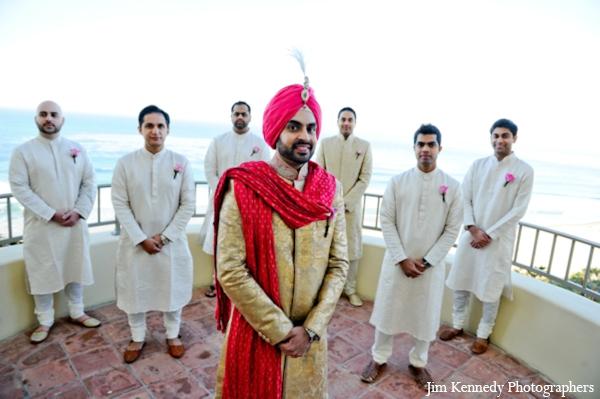 Indian-wedding-groom-groomsmen-sherwanis-portrait
