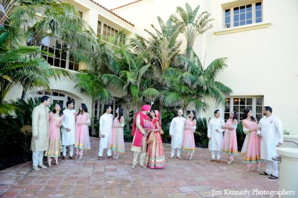 Indian-wedding-portrait-groom-bride-outdoors-couples