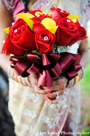 Indian-wedding-bridal-bouquet-colorful