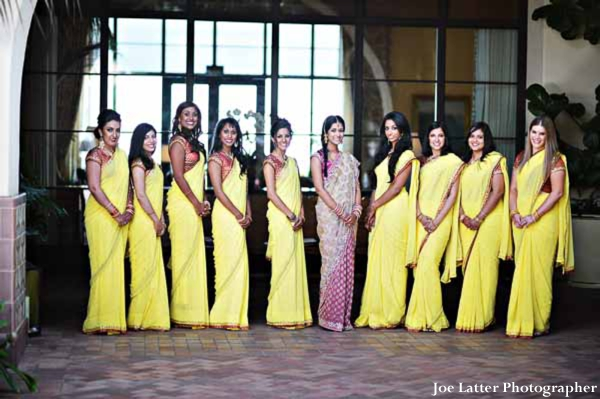 Indian-wedding-bridal-party-lenghas