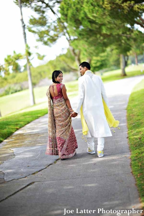 Indian-wedding-bride-groom-before-ceremony-portrait