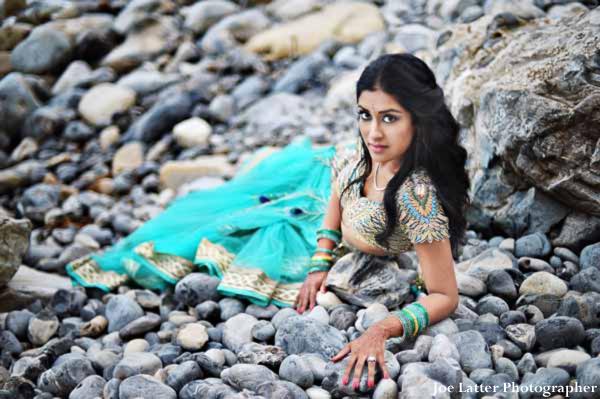 Indian-wedding-bride-portrait-beach-rocks