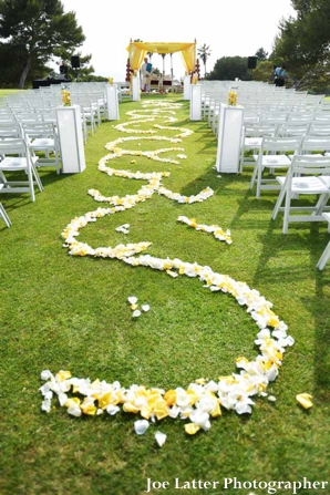 Indian-wedding-ceremony-aisle-flower-petals