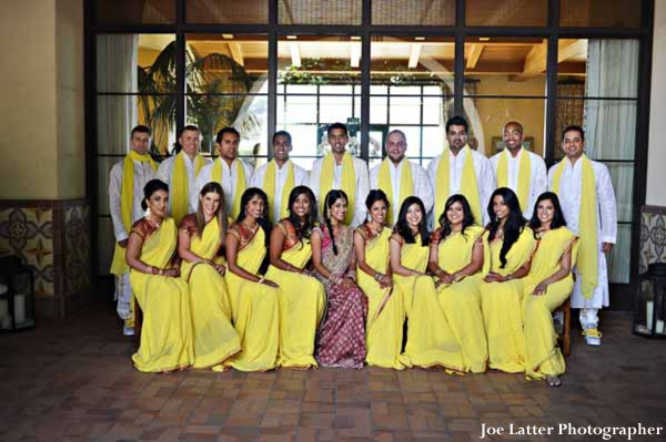 Indian-wedding-party-bridesmaids-groomsmen