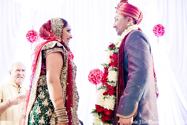 Indian ceremony wedding bride groom in New Brunswick, NJ Indian Wedding by Joie Elie Photography