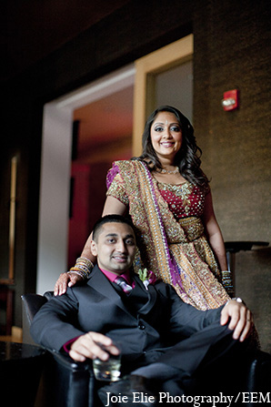 Indian groom bride portraits wedding in New Brunswick, NJ Indian Wedding by Joie Elie Photography