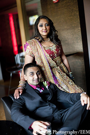 Indian portraits bride groom wedding in New Brunswick, NJ Indian Wedding by Joie Elie Photography