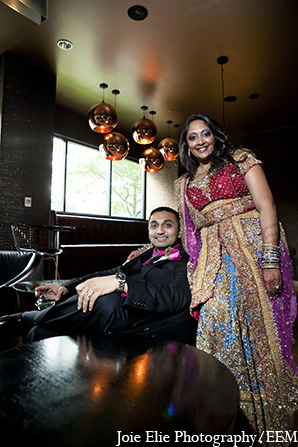 Indian portraits groom bride wedding in New Brunswick, NJ Indian Wedding by Joie Elie Photography