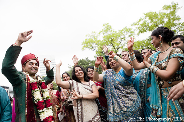 Indian wedding baraat groom venue in New Brunswick, NJ Indian Wedding by Joie Elie Photography