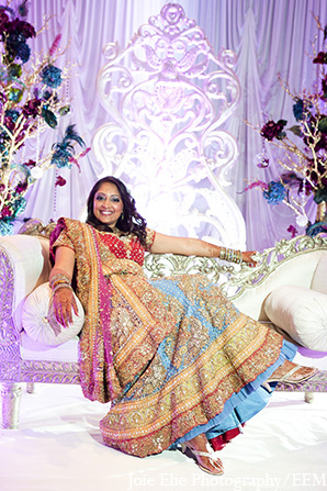 Indian wedding bridal fashion decor in New Brunswick, NJ Indian Wedding by Joie Elie Photography