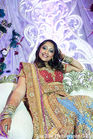 Indian wedding bridal fashion lengha in New Brunswick, NJ Indian Wedding by Joie Elie Photography