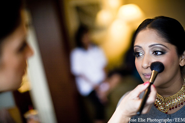 Indian wedding bridal makeup photography in New Brunswick, NJ Indian Wedding by Joie Elie Photography