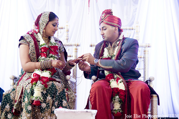 Indian wedding bride groom ceremony in New Brunswick, NJ Indian Wedding by Joie Elie Photography