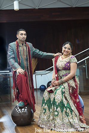 Indian wedding bride groom photography in New Brunswick, NJ Indian Wedding by Joie Elie Photography