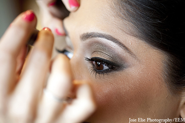 Indian wedding bride makeup photography in New Brunswick, NJ Indian Wedding by Joie Elie Photography