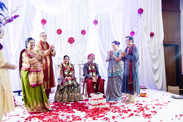 Indian wedding ceremony groom bride in New Brunswick, NJ Indian Wedding by Joie Elie Photography