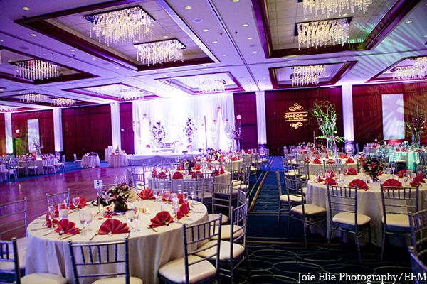 Indian wedding decor venue reception in New Brunswick, NJ Indian Wedding by Joie Elie Photography