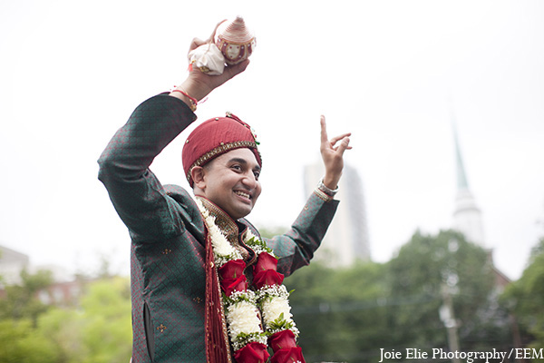 Indian wedding groom baraat photography in New Brunswick, NJ Indian Wedding by Joie Elie Photography