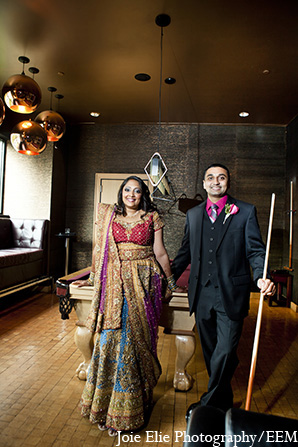 Indian wedding groom bride portraits in New Brunswick, NJ Indian Wedding by Joie Elie Photography