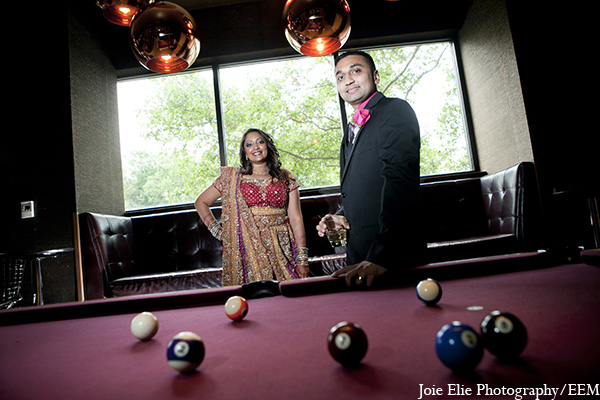 Indian wedding photography bride groom in New Brunswick, NJ Indian Wedding by Joie Elie Photography