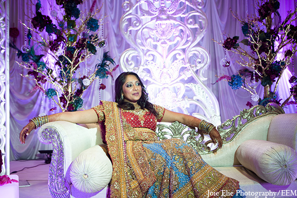 Indian wedding reception bridal fashion in New Brunswick, NJ Indian Wedding by Joie Elie Photography