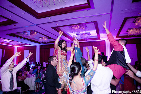 Indian wedding reception photography bride groom in New Brunswick, NJ Indian Wedding by Joie Elie Photography