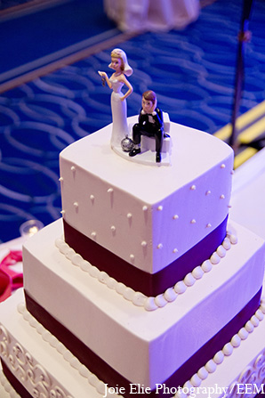 Indian wedding reception topper cake in New Brunswick, NJ Indian Wedding by Joie Elie Photography