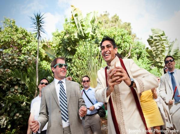 Indian wedding baraat groom party