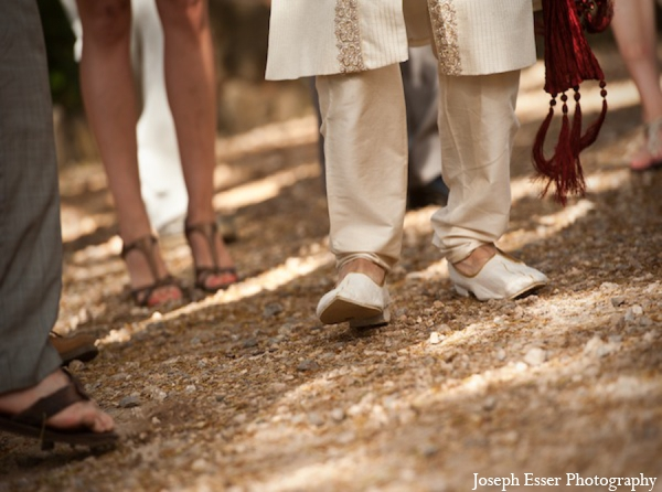 Indian wedding baraat groom shoes