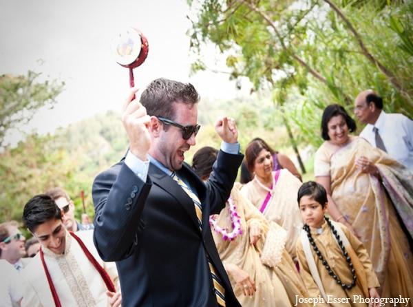 Indian wedding baraat party celebration
