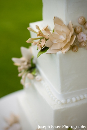Indian wedding cake decor floral outdoor