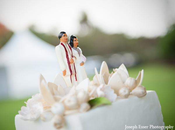 Indian wedding cake decor outdoor white