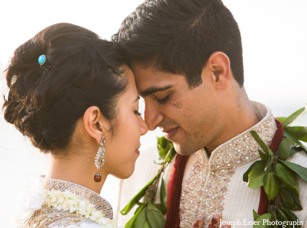 Indian wedding hair outdoor portrait