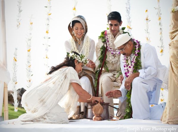 Indian wedding outdoor fire ceremony