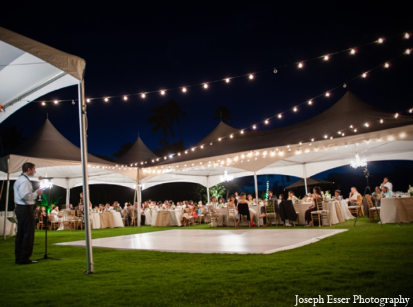 Indian wedding outdoor venue night white