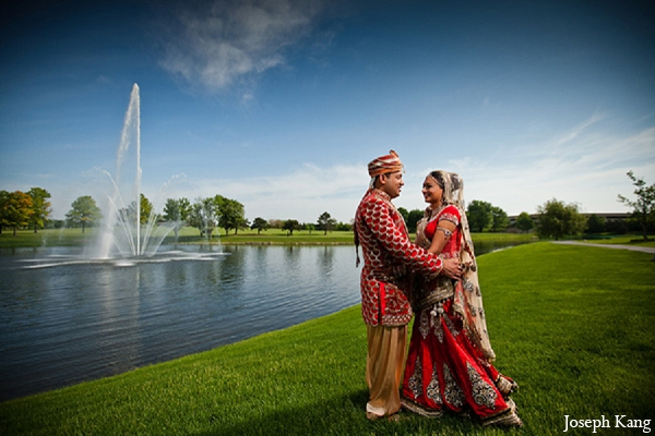 Indian wedding bride groom outdoor portraits in Chicago, Illinois Indian Wedding by Joseph Kang