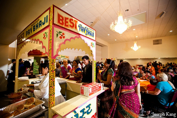 Indian wedding garba night catering idea food in Chicago, Illinois Indian Wedding by Joseph Kang
