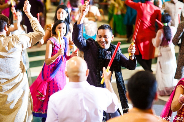 Indian wedding garba night groom photographhy in Chicago, Illinois Indian Wedding by Joseph Kang