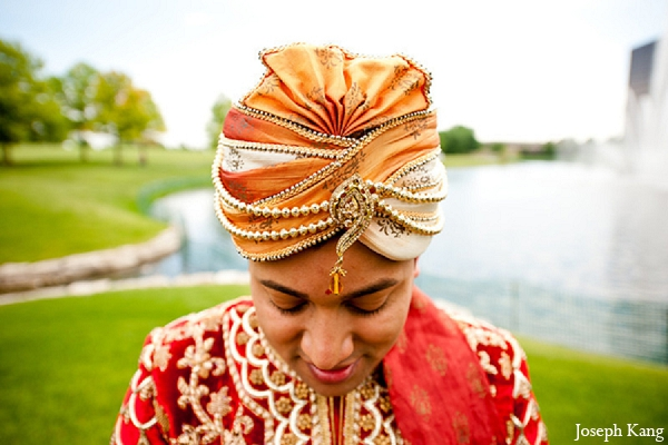 Indian wedding portraits groom fashion outdoor in Chicago, Illinois Indian Wedding by Joseph Kang