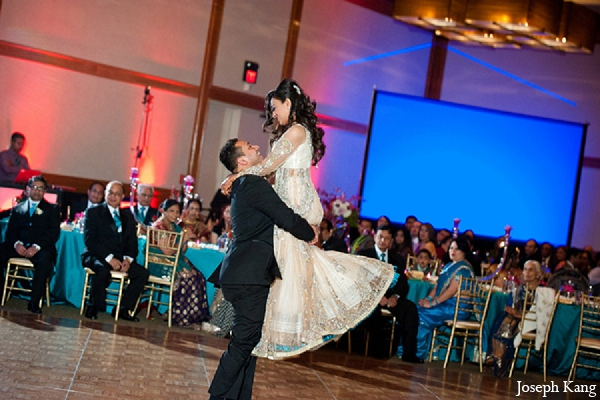 Indian wedding reception bride groom dancing photography in Chicago, Illinois Indian Wedding by Joseph Kang