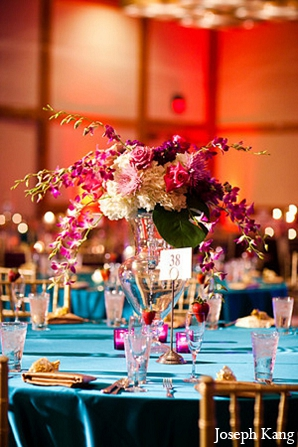 Featured Indian Weddings,purple,orange,blue,Floral & Decor,indian wedding decor,ideas for indian wedding reception,indian wedding decoration ideas,indian wedding decorators,indian wedding decorations,indian wedding decoration,indian wedding ideas,indian wedding decorator,Joseph Kang