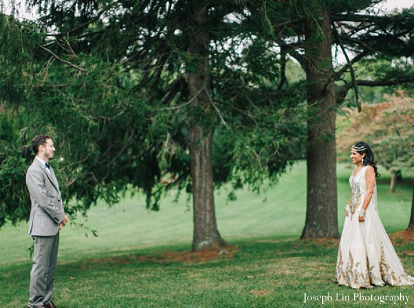 Indian wedding bride groom photography in Greenport, NY Indian Fusion Wedding by Joseph Lin Photography