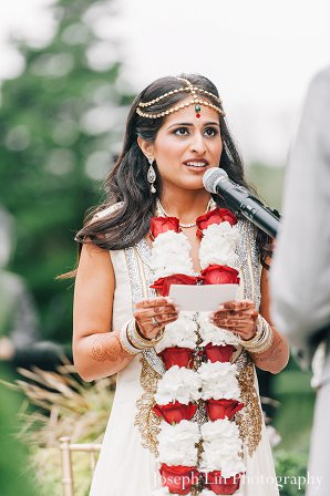 Indian wedding bride jai mala in Greenport, NY Indian Fusion Wedding by Joseph Lin Photography