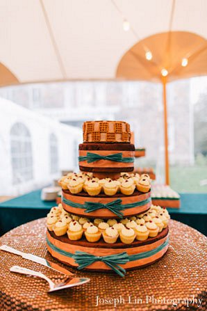 Indian wedding cake treats in Greenport, NY Indian Fusion Wedding by Joseph Lin Photography