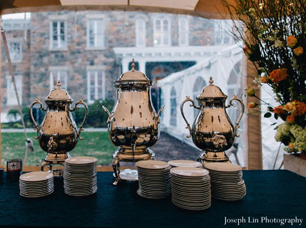 Indian wedding catering reception in Greenport, NY Indian Fusion Wedding by Joseph Lin Photography