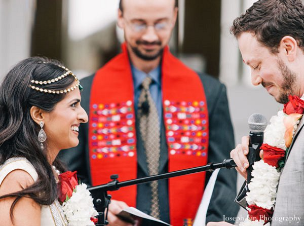 Indian wedding ceremony fusion in Greenport, NY Indian Fusion Wedding by Joseph Lin Photography