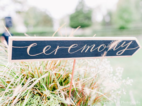 Indian wedding ceremony signage in Greenport, NY Indian Fusion Wedding by Joseph Lin Photography